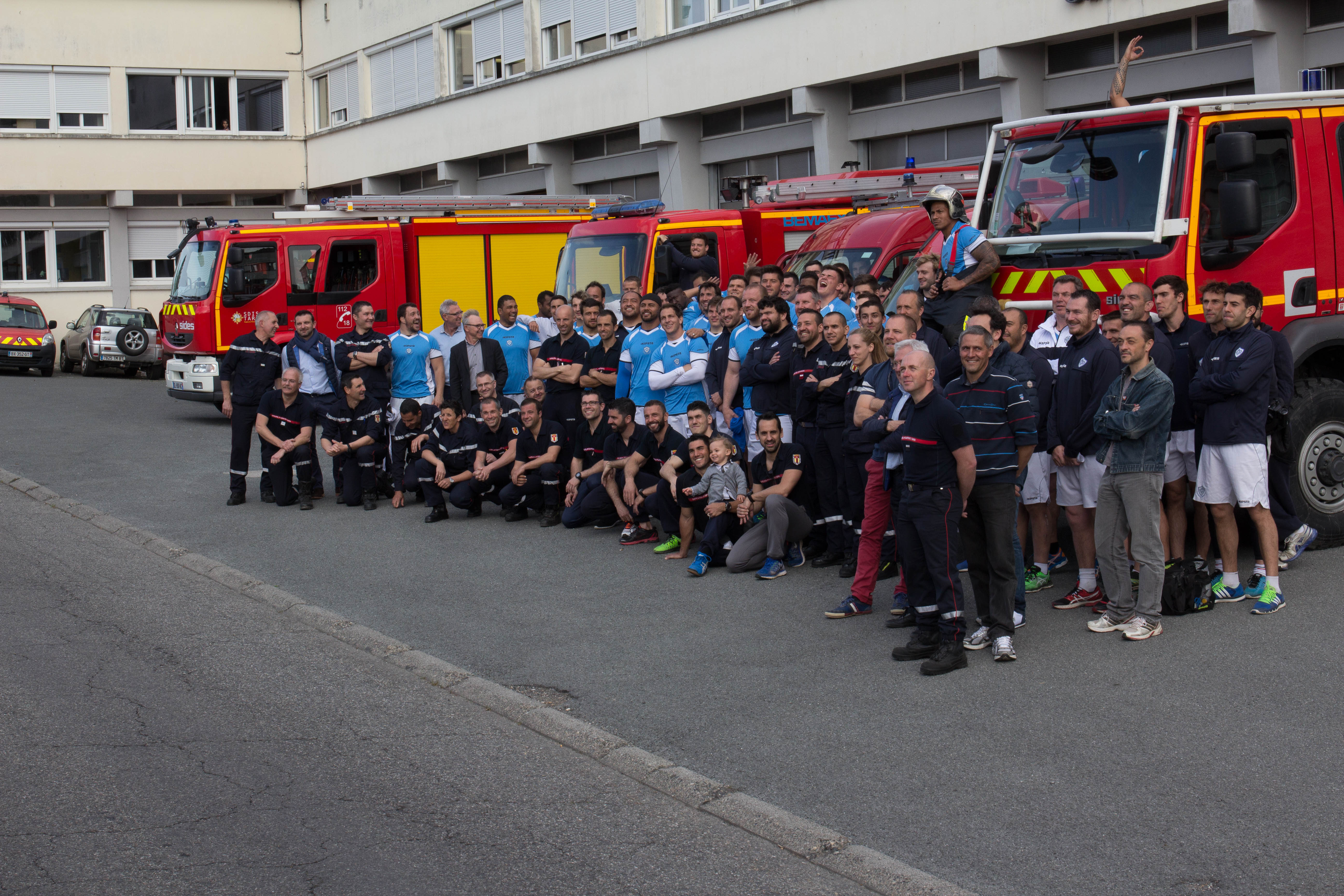 Le Castres Olympique en immersion au Centre de Secours Principal de Castres
