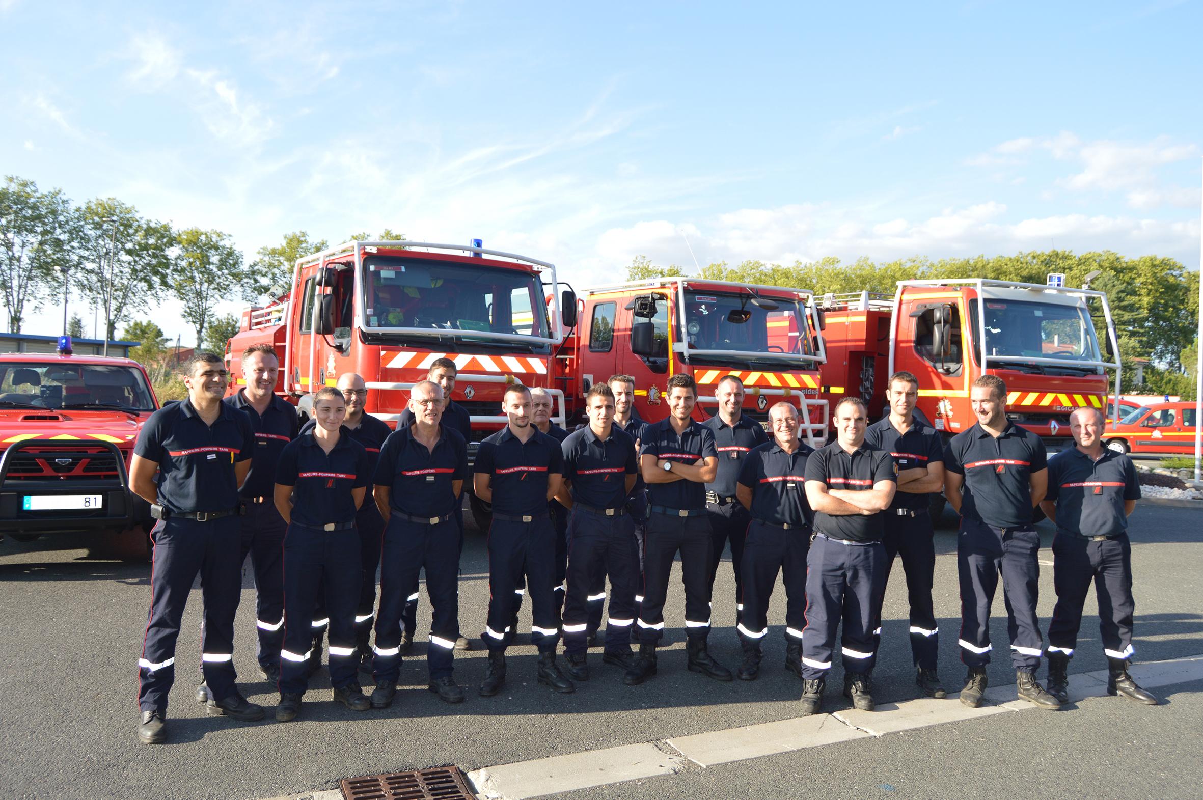 Renfort aux sapeurs-pompiers de la Gironde