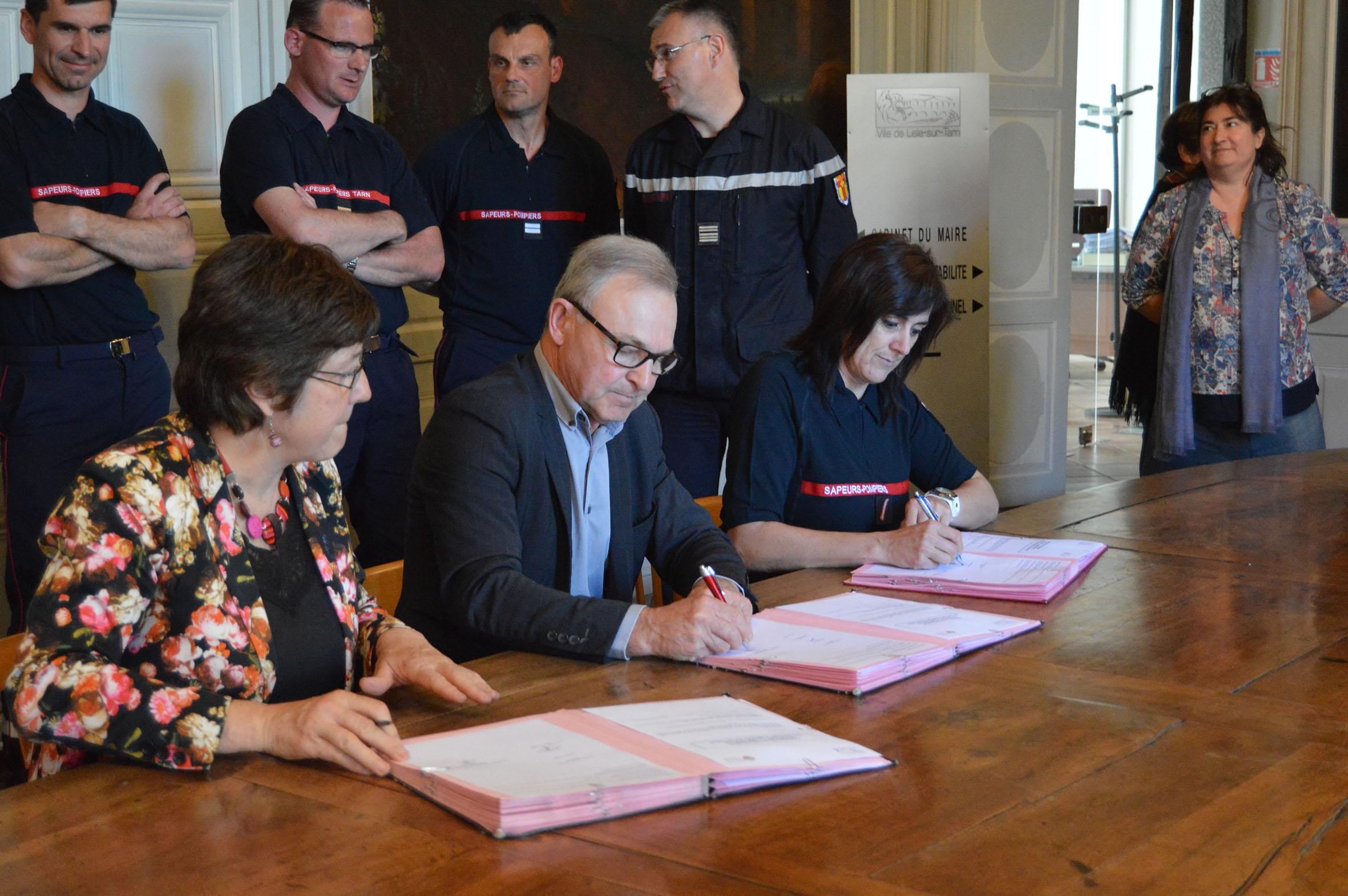 Signature d'une nouvelle convention avec la mairie de Lisle-sur-Tarn