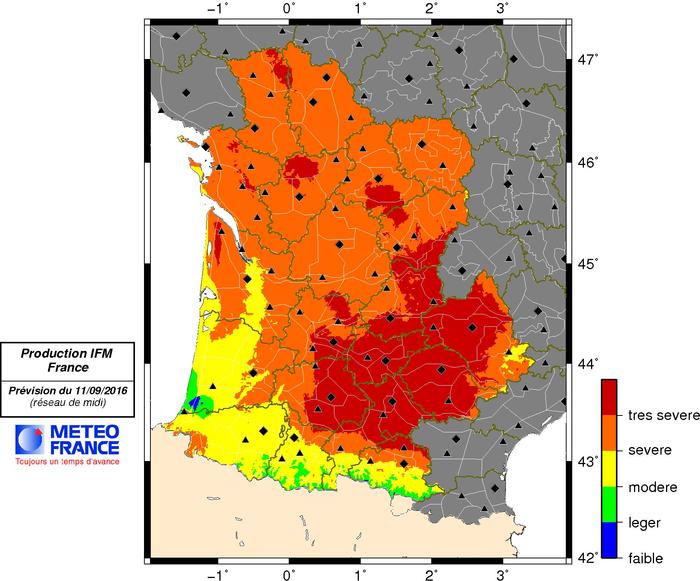 Feux de forêt: le département du Tarn en risque très sévère