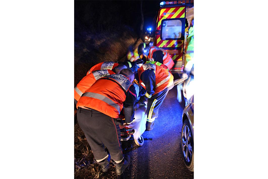 Embardée d'une voiture à Saint-Michel-Labadié