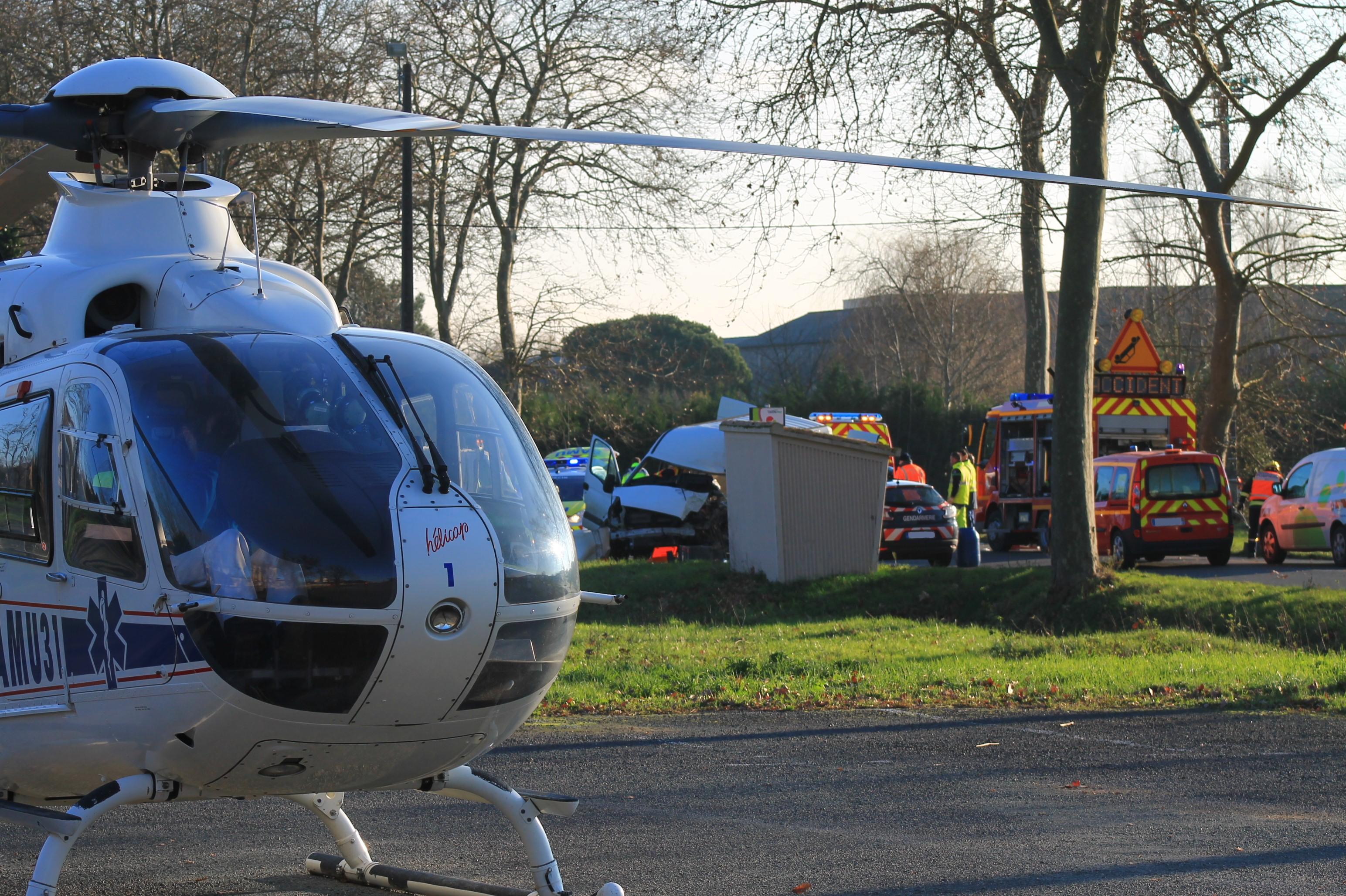Violente collision sur la commune de Graulhet
