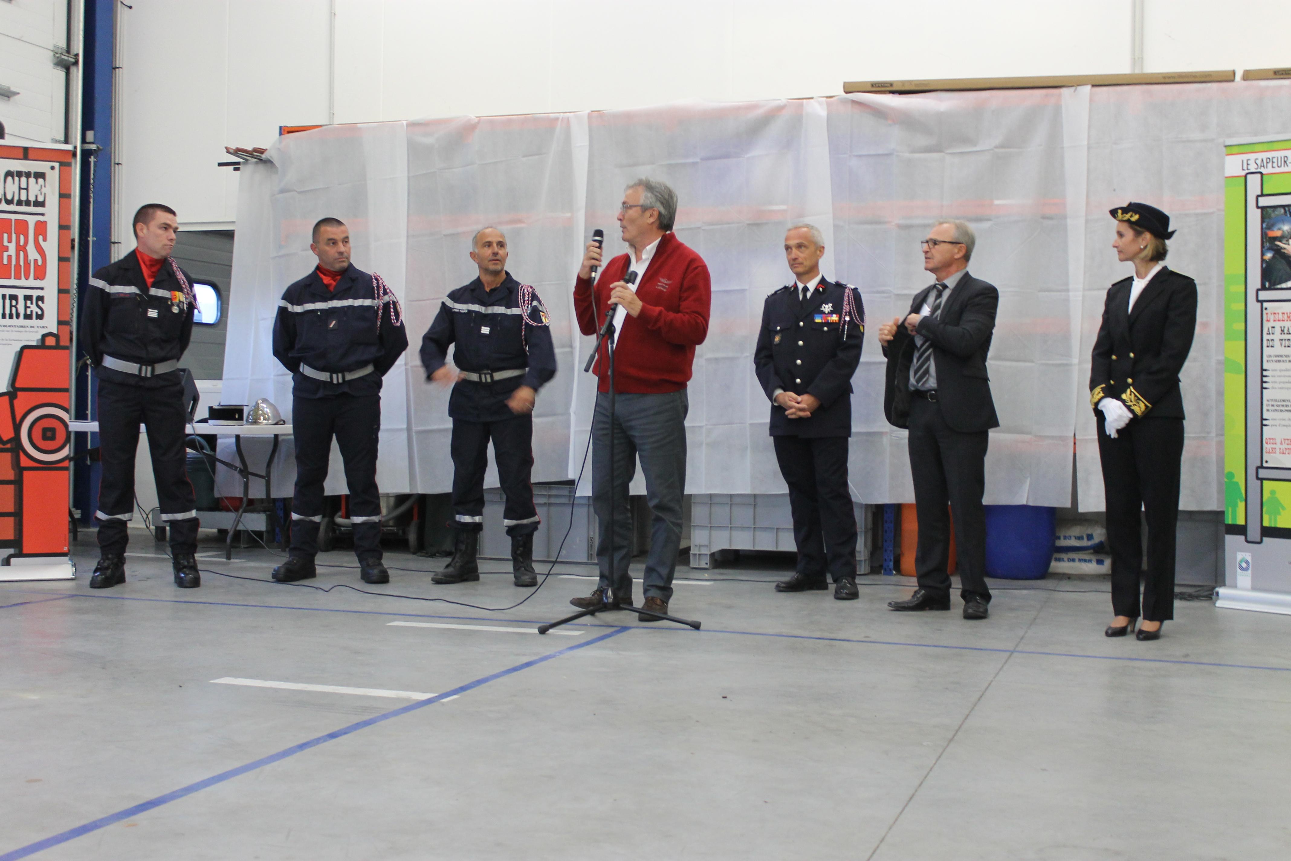 Passation de commandement au centre d'incendie et de secours de Réalmont