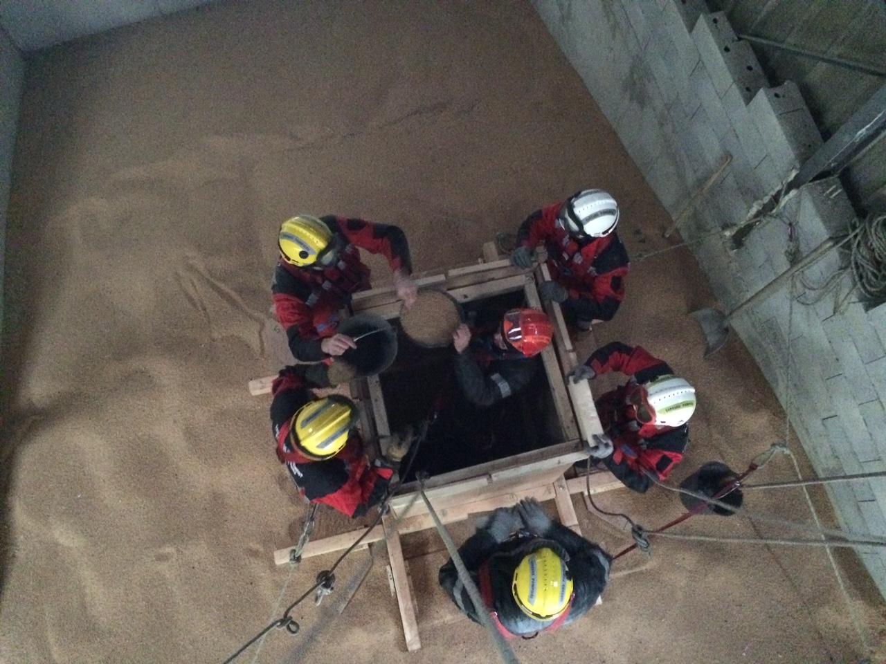 Technique de sauvetage en silo pour la section SD
