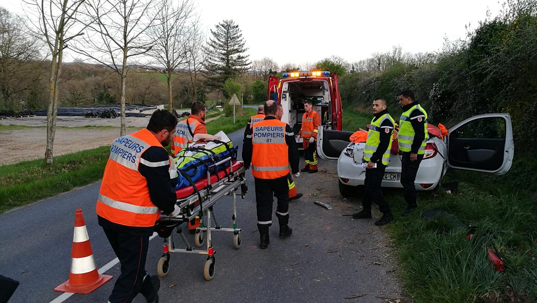 Accident de la circulation sur la commune de Almayrac