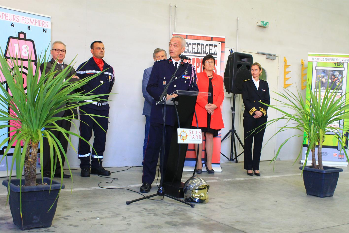 Passation de commandement au centre de secours de Lisle-sur-Tarn