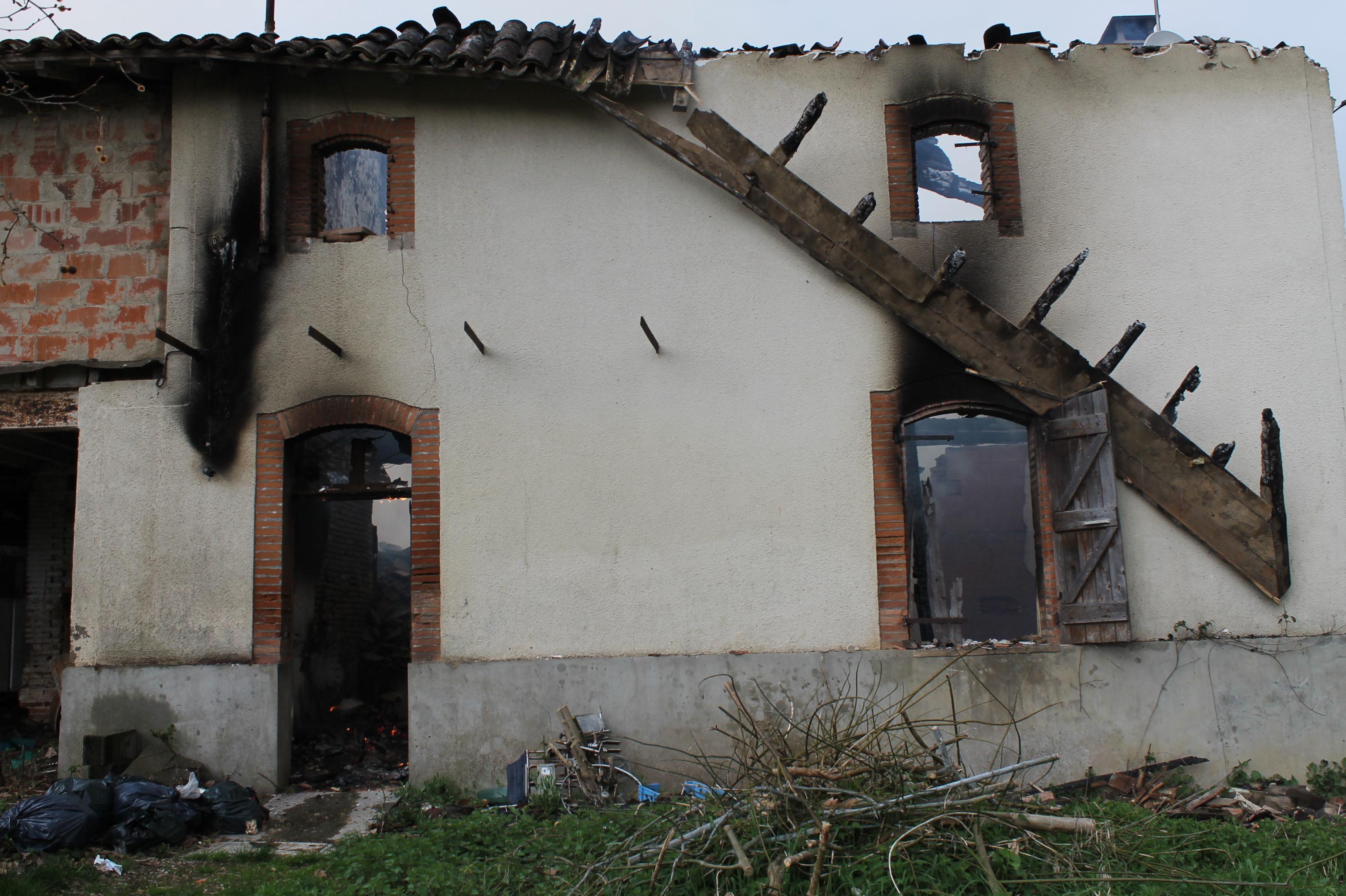 Feu d'habitation sur la commune de Tauriac