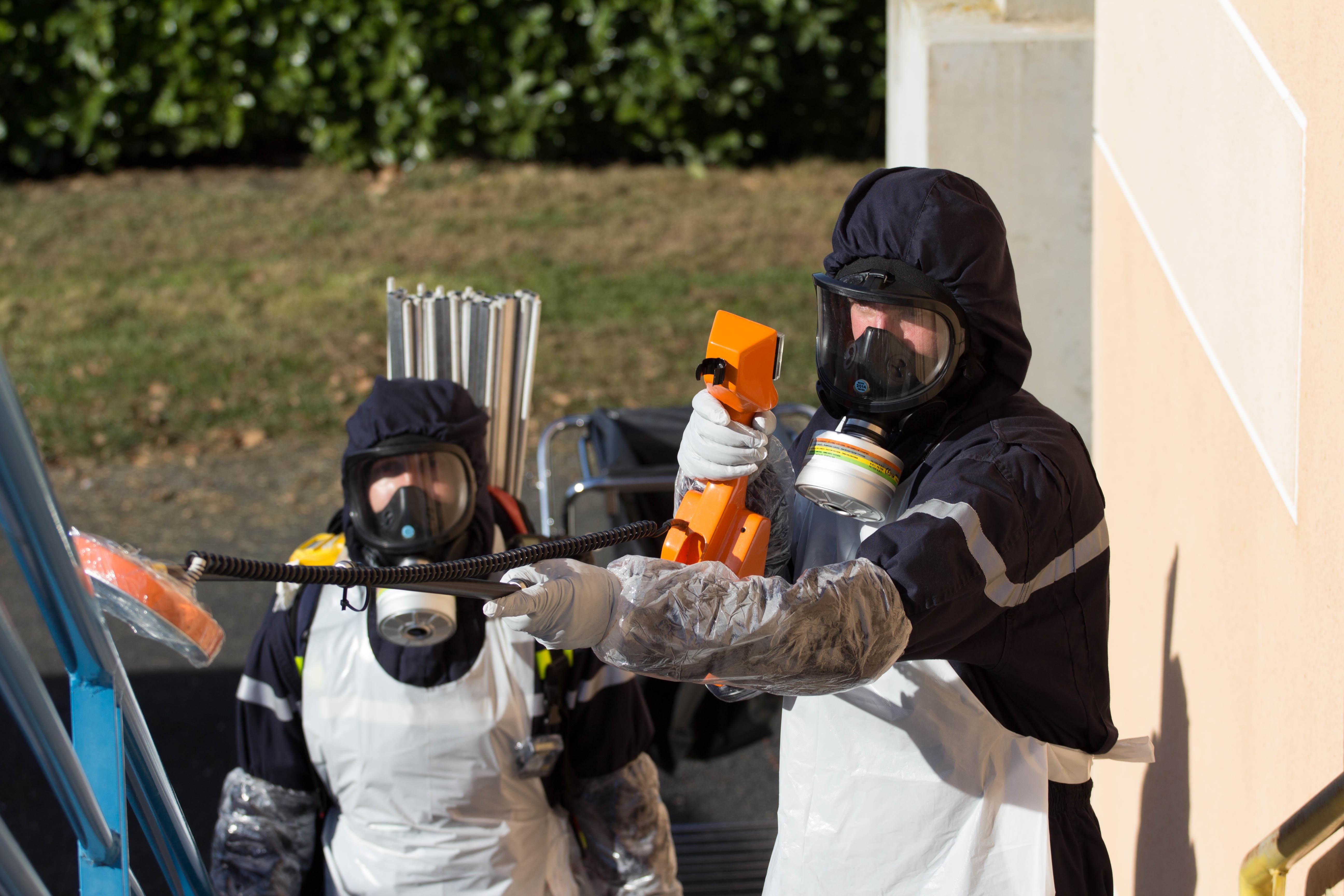 Simulation d'une attaque terroriste lors d'un match