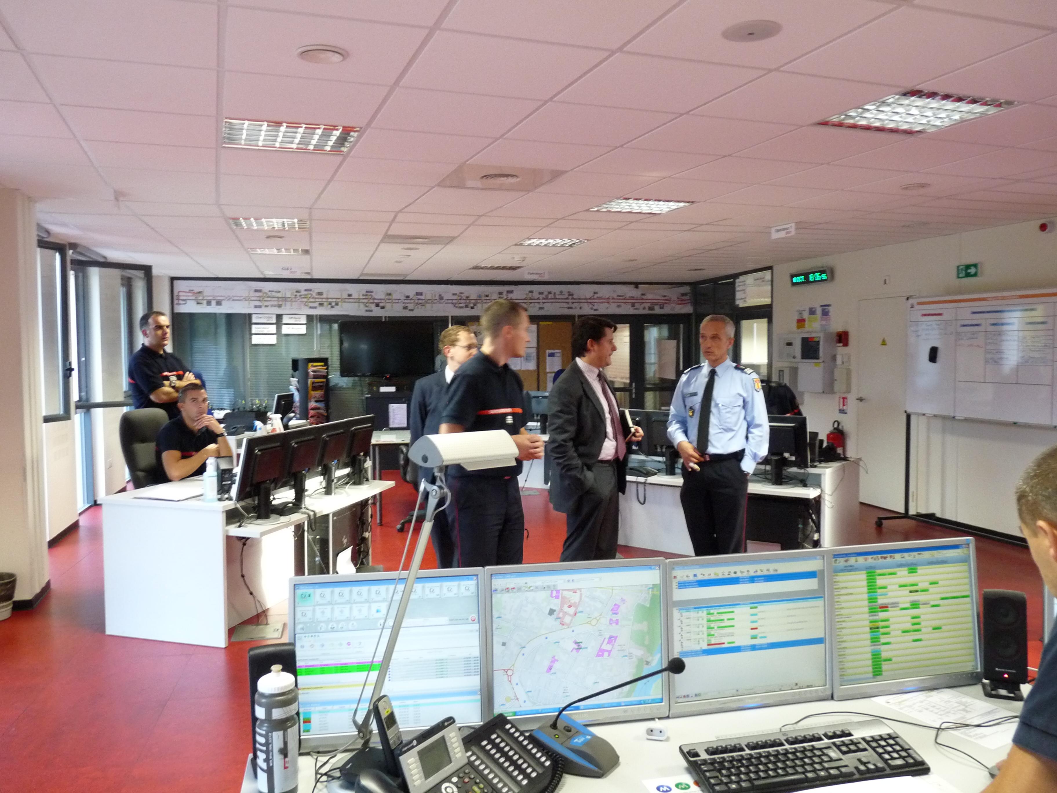 Le secrétaire général de Préfecture du Tarn en visite au CTA-CODIS du SDIS 81.