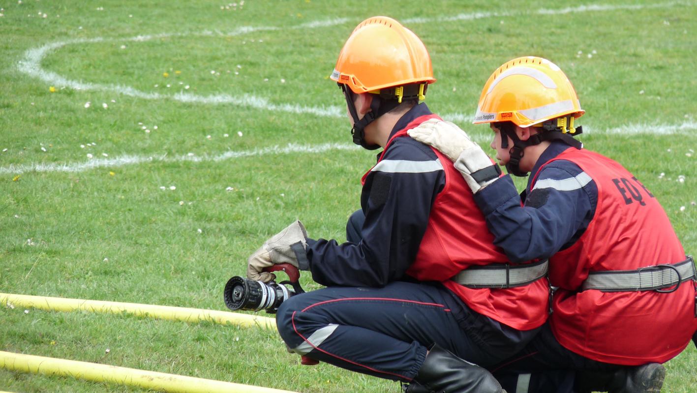 Parcours sportif des sapeurs-pompiers départemental à Cagnac-les-Mines et SDISathlon