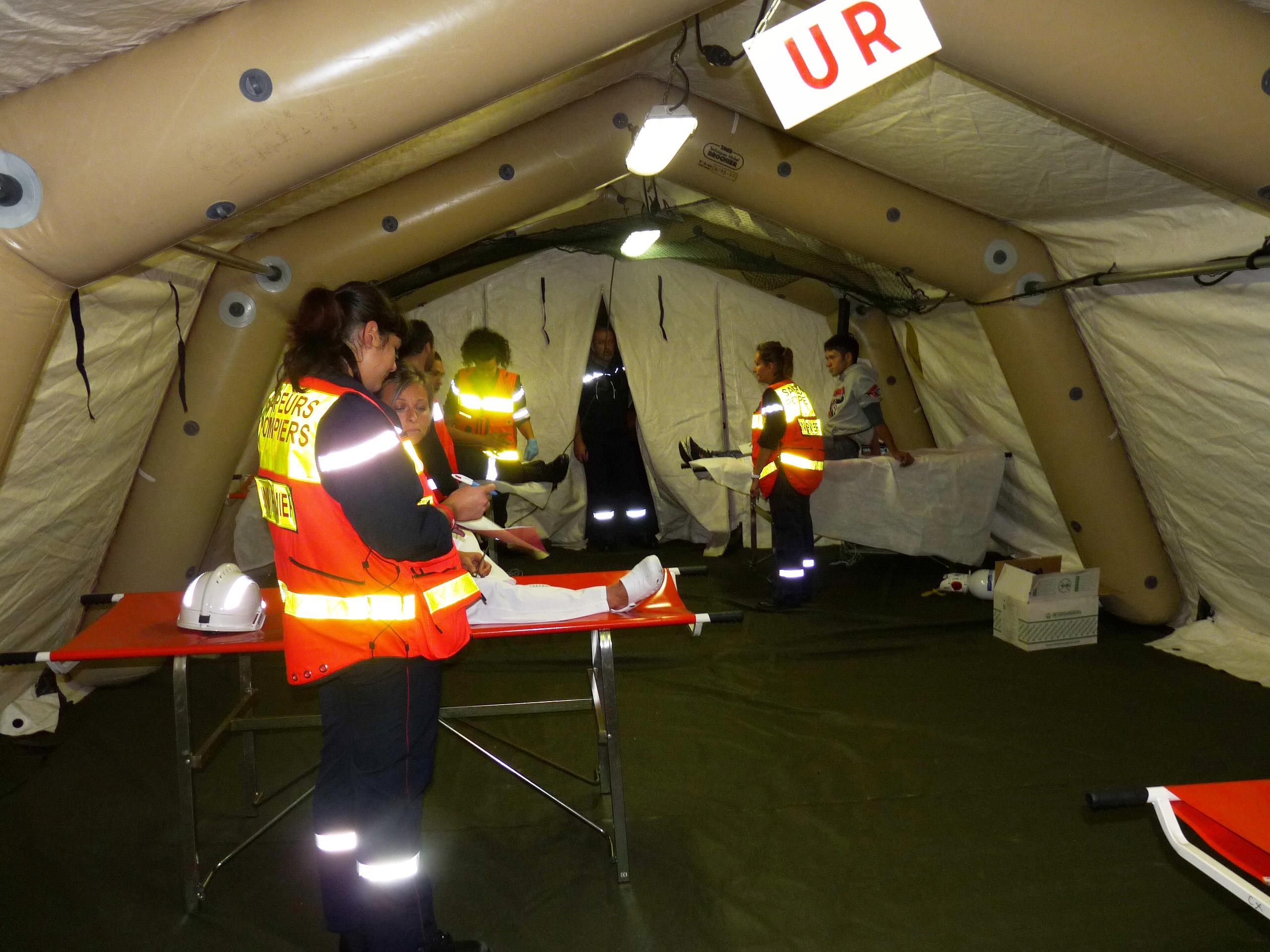 Un exercice d'envergure organisé en partenariat entre le groupement Nord du SDIS du Tarn et la Clinique Claude Bernard d'Albi