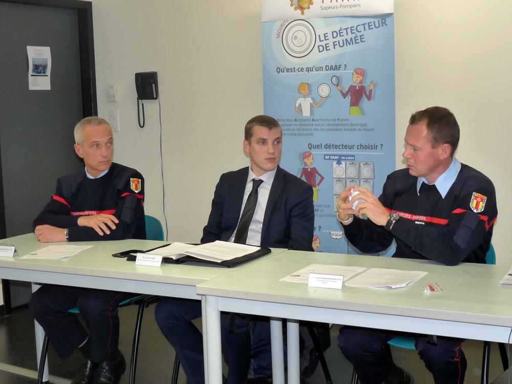Conférence de presse sur les détecteurs de fumée