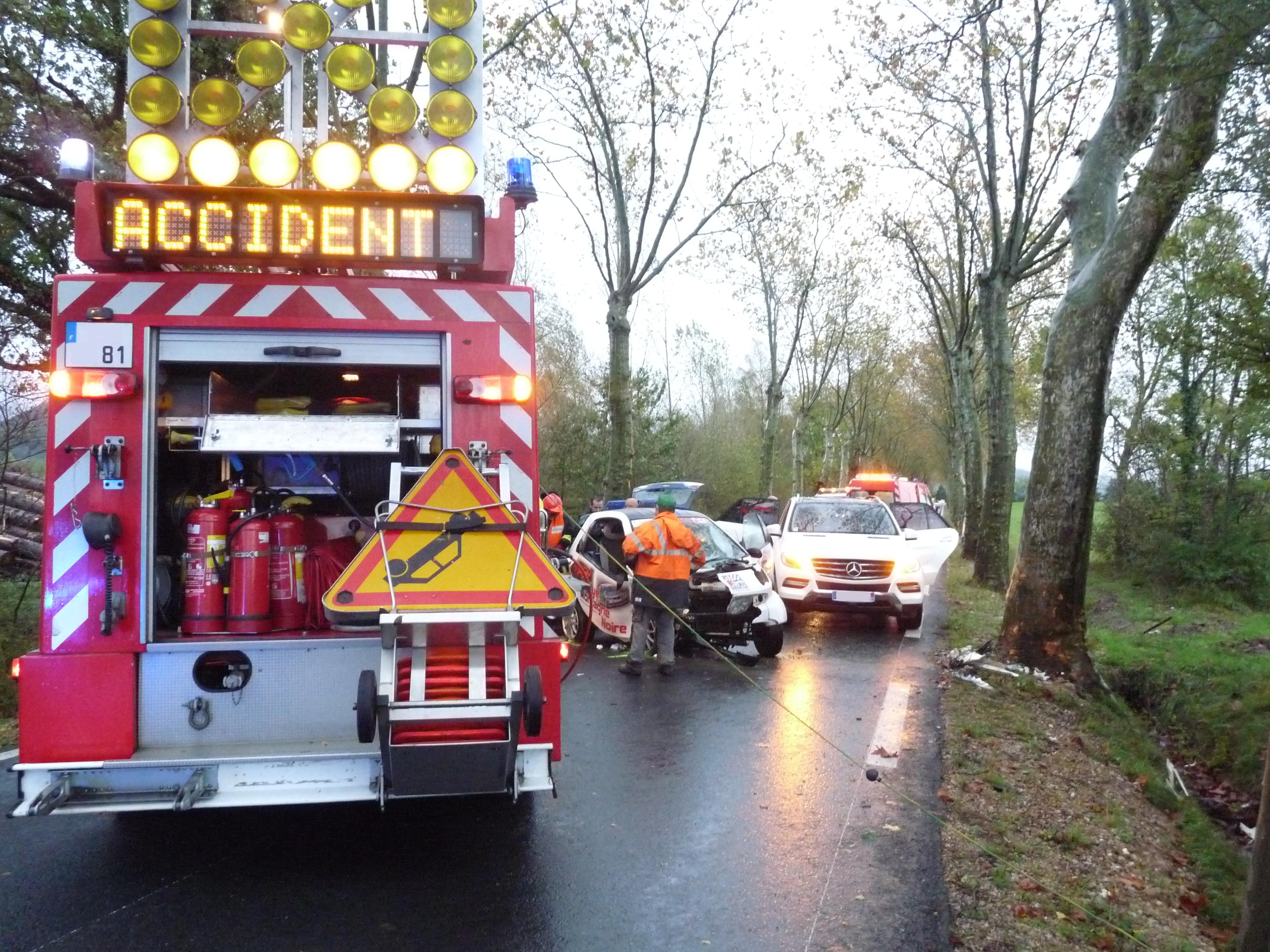Secours routier sur la commune de Verdalle