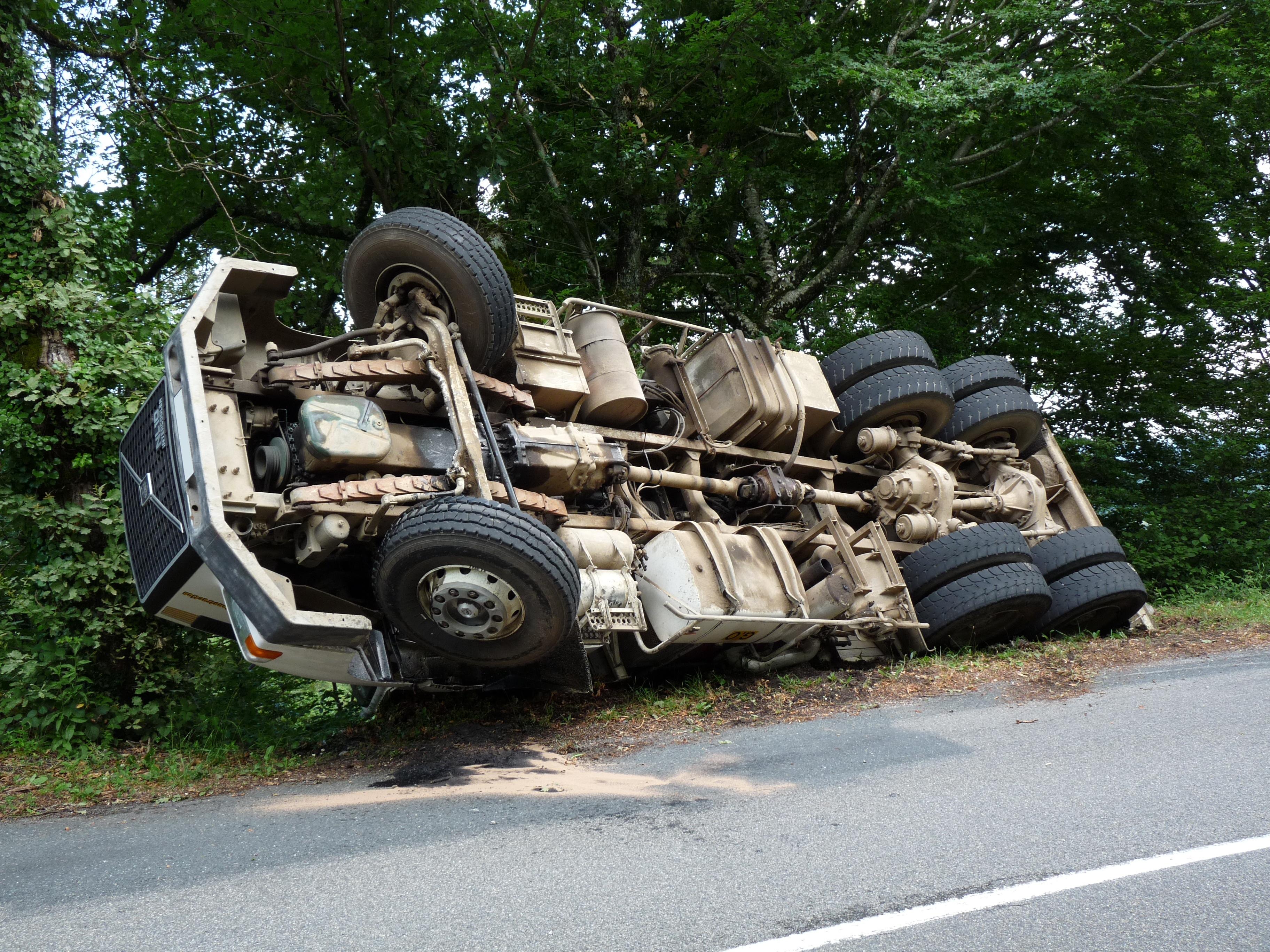 Accident de poids lourd sur la commune de Saint-Salvy-de-la-Balme