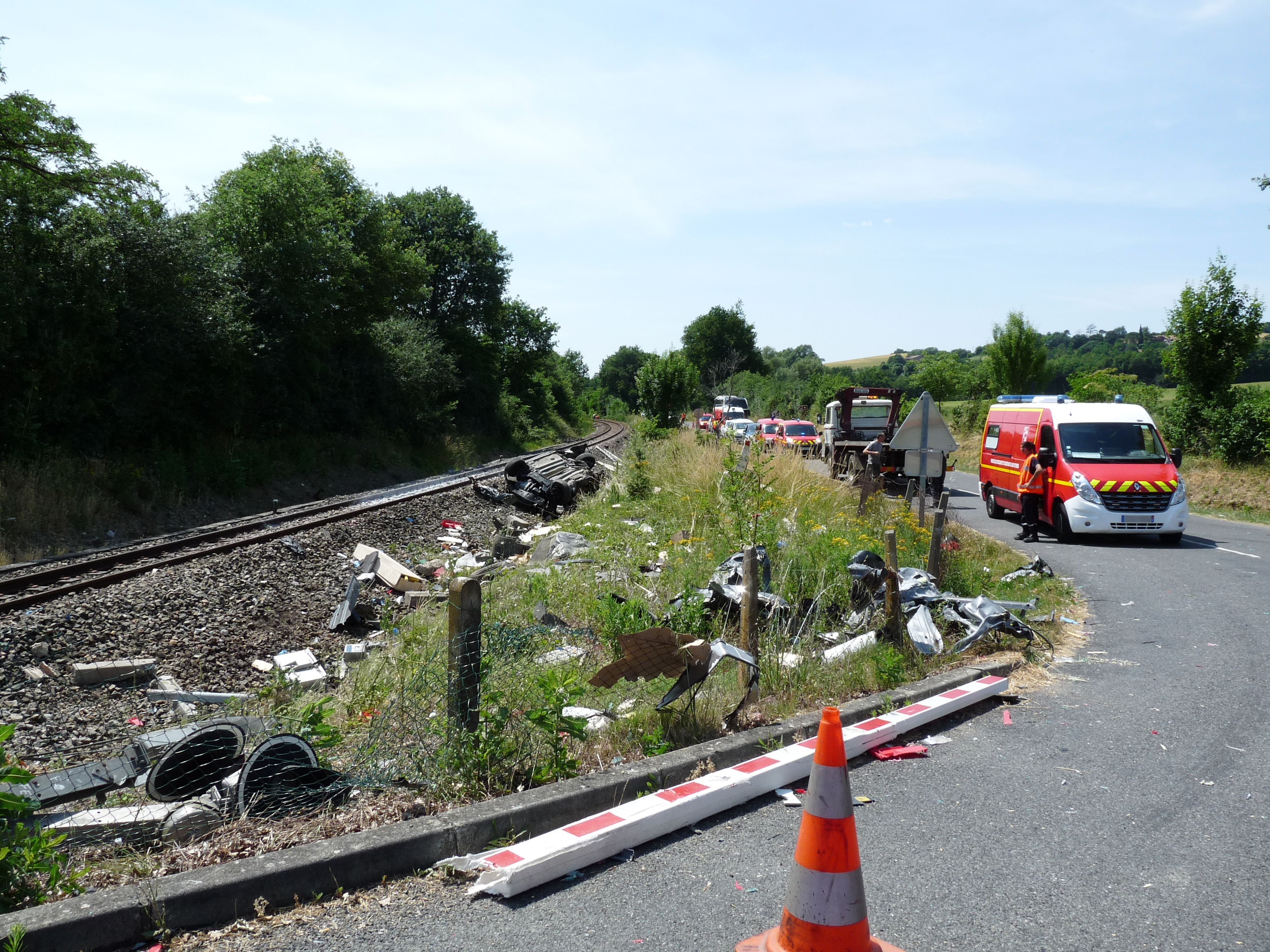 Accident ferroviaire sur la commune de Fiac