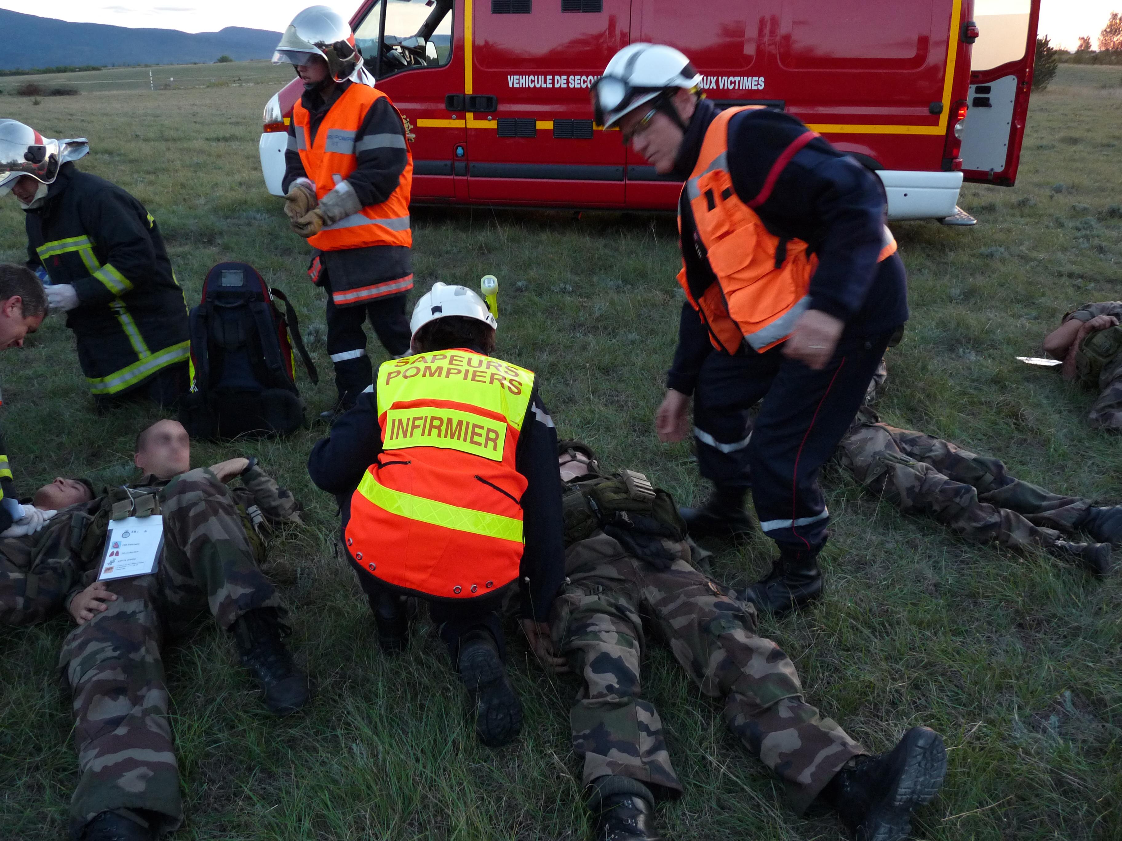 """Exercice """"crash d'hélicoptère"""" organisé par le groupement territorial Sud"""