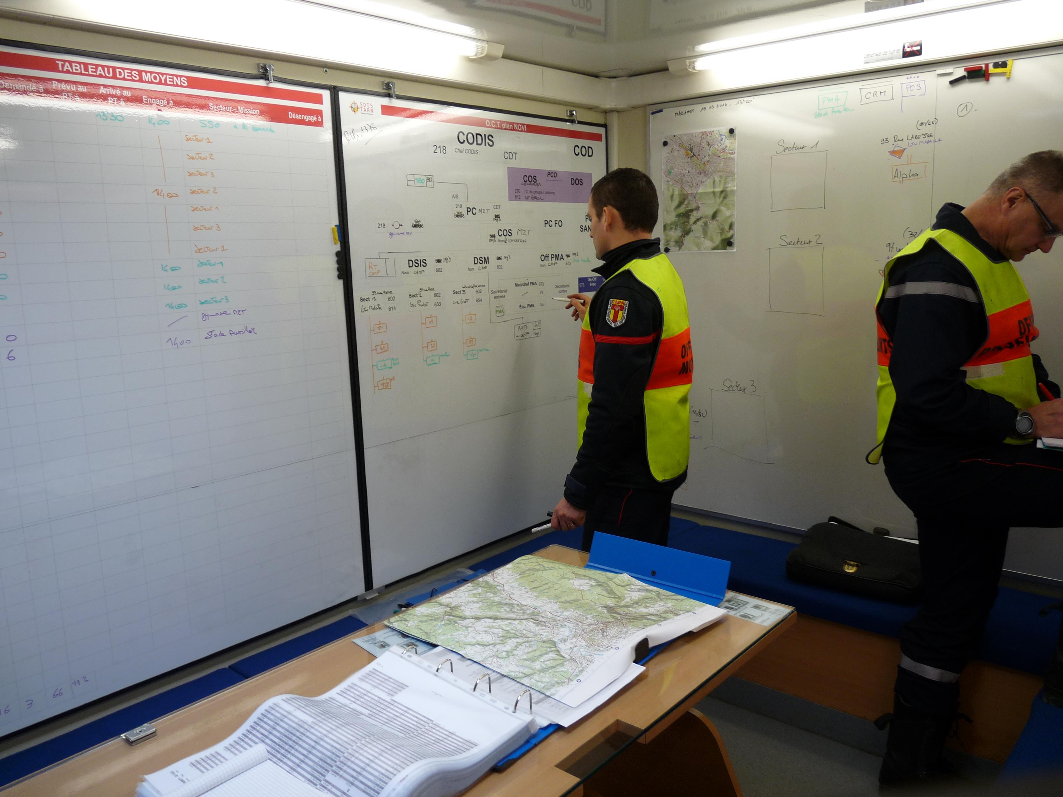 Manoeuvre régionale sauvetage déblaiement à Mazamet