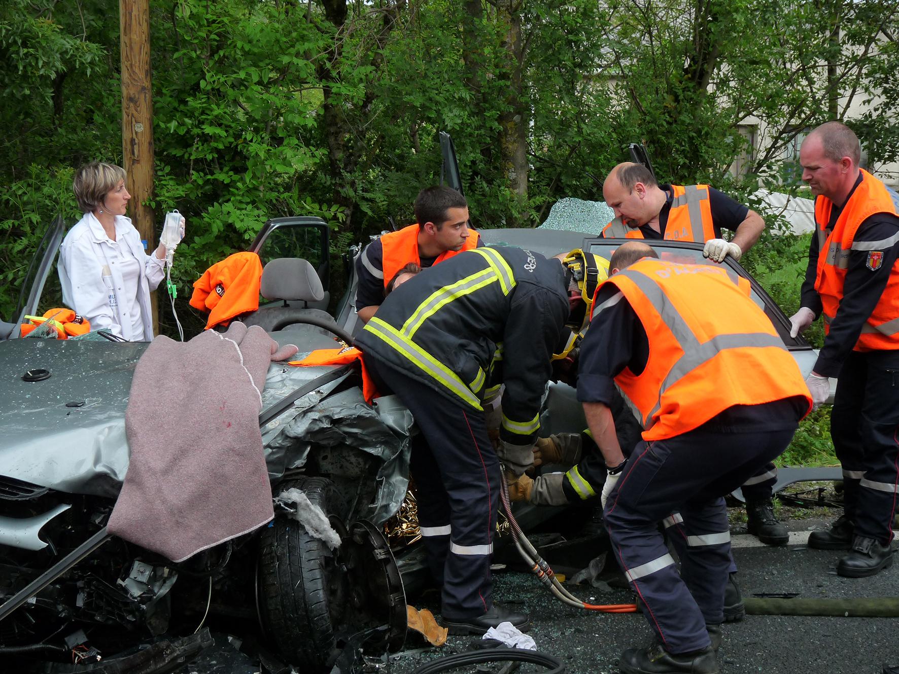 Accident de la circulation sur la commune de Aiguefonde
