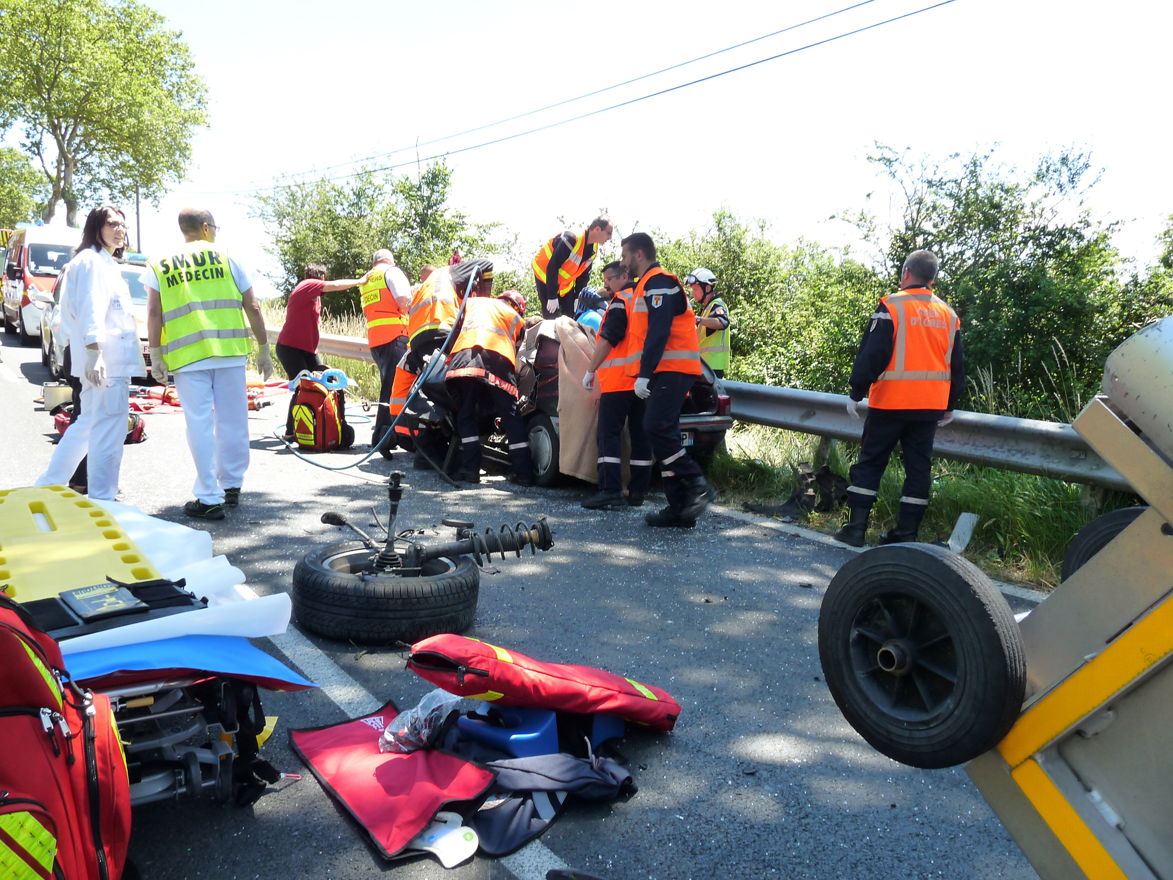 Accident de la circulation sur la commune de Castres