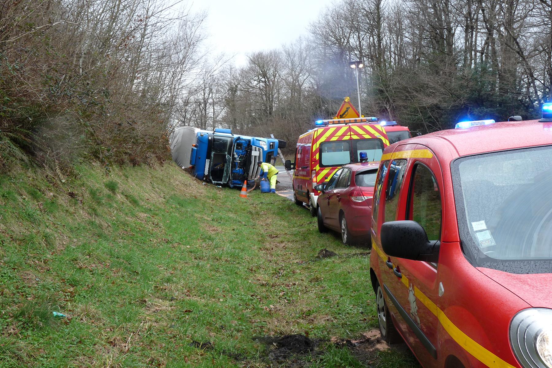 Accident d'un poids lourd sur la commune de Sauveterre