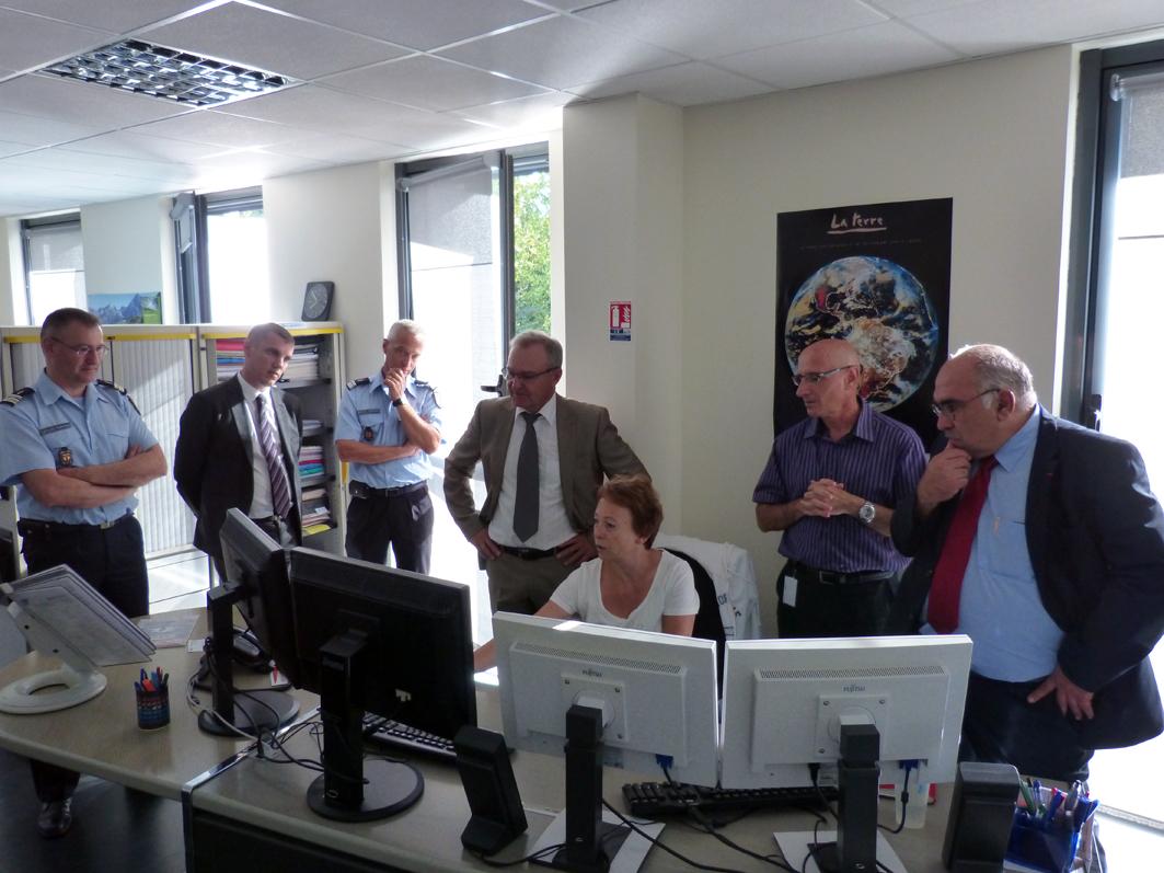 Le nouveau préfet du Tarn en visite à l'état-major du SDIS