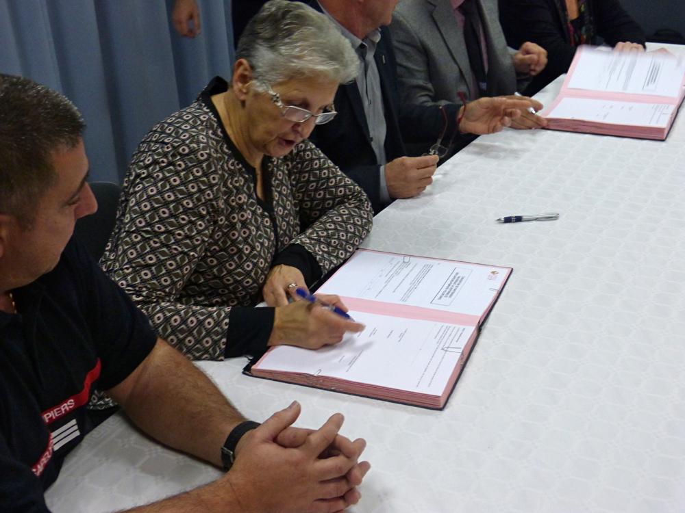 Signature d'une nouvelle convention au centre de secours de Dourgne