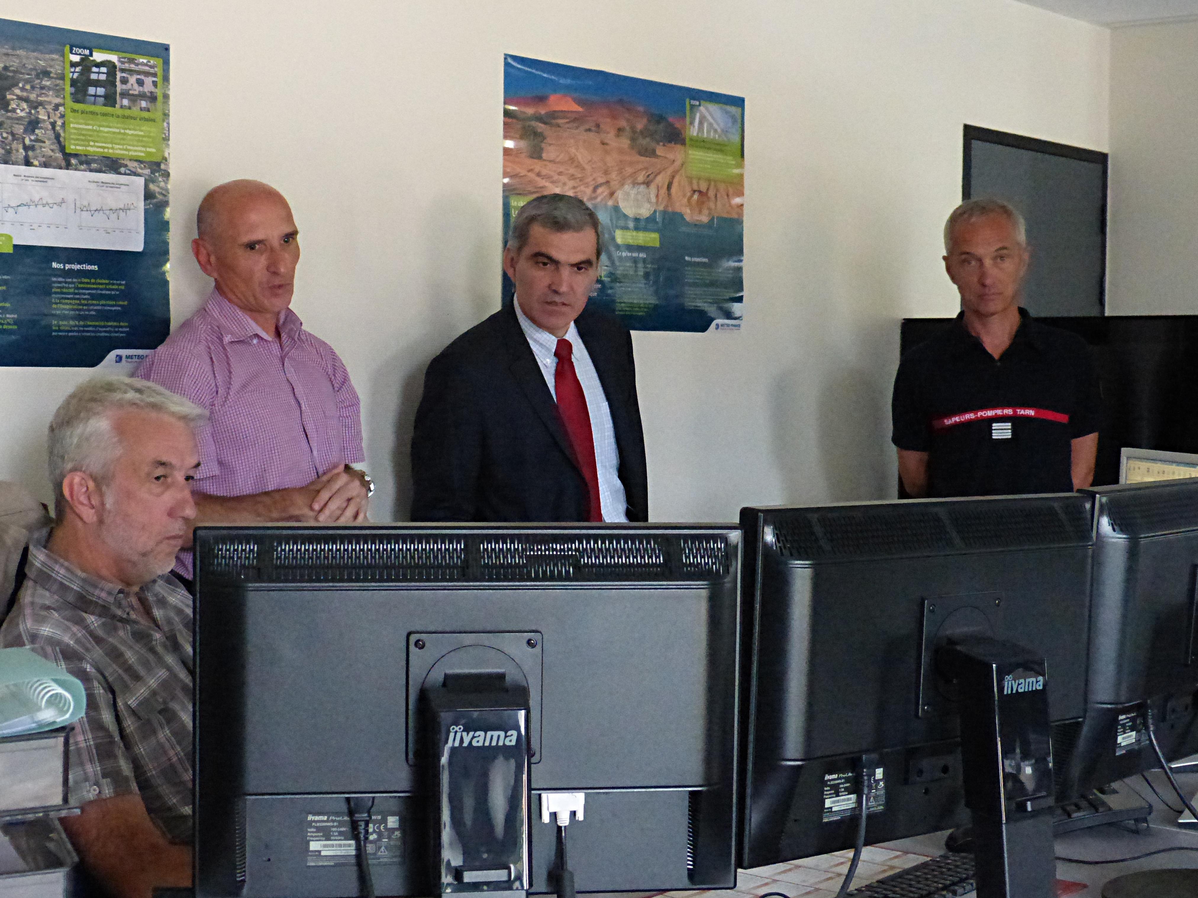 2 visites officielles au centre de traitement de l'alerte