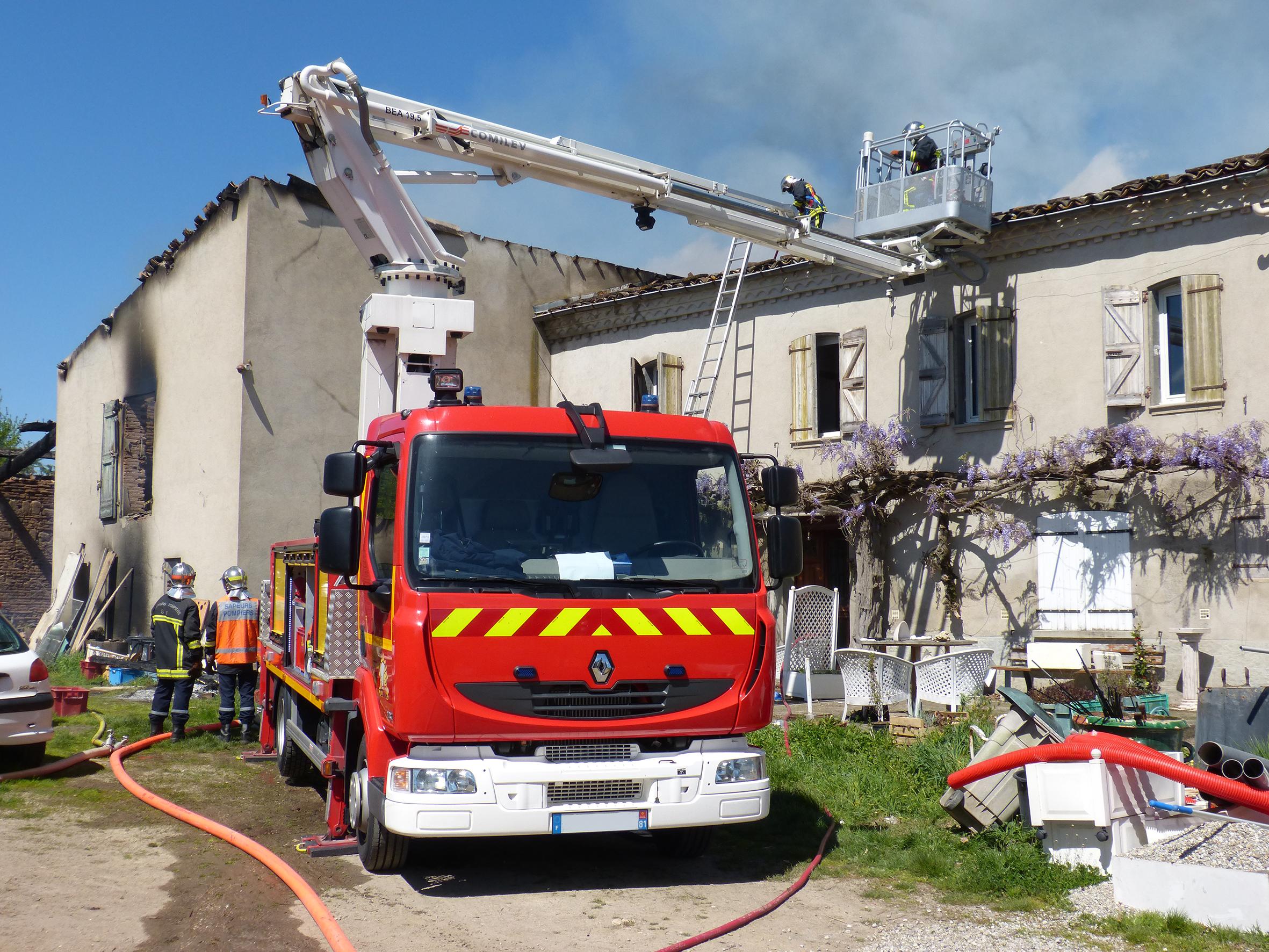 Feu d'habitation sur la commune de Couffouleux
