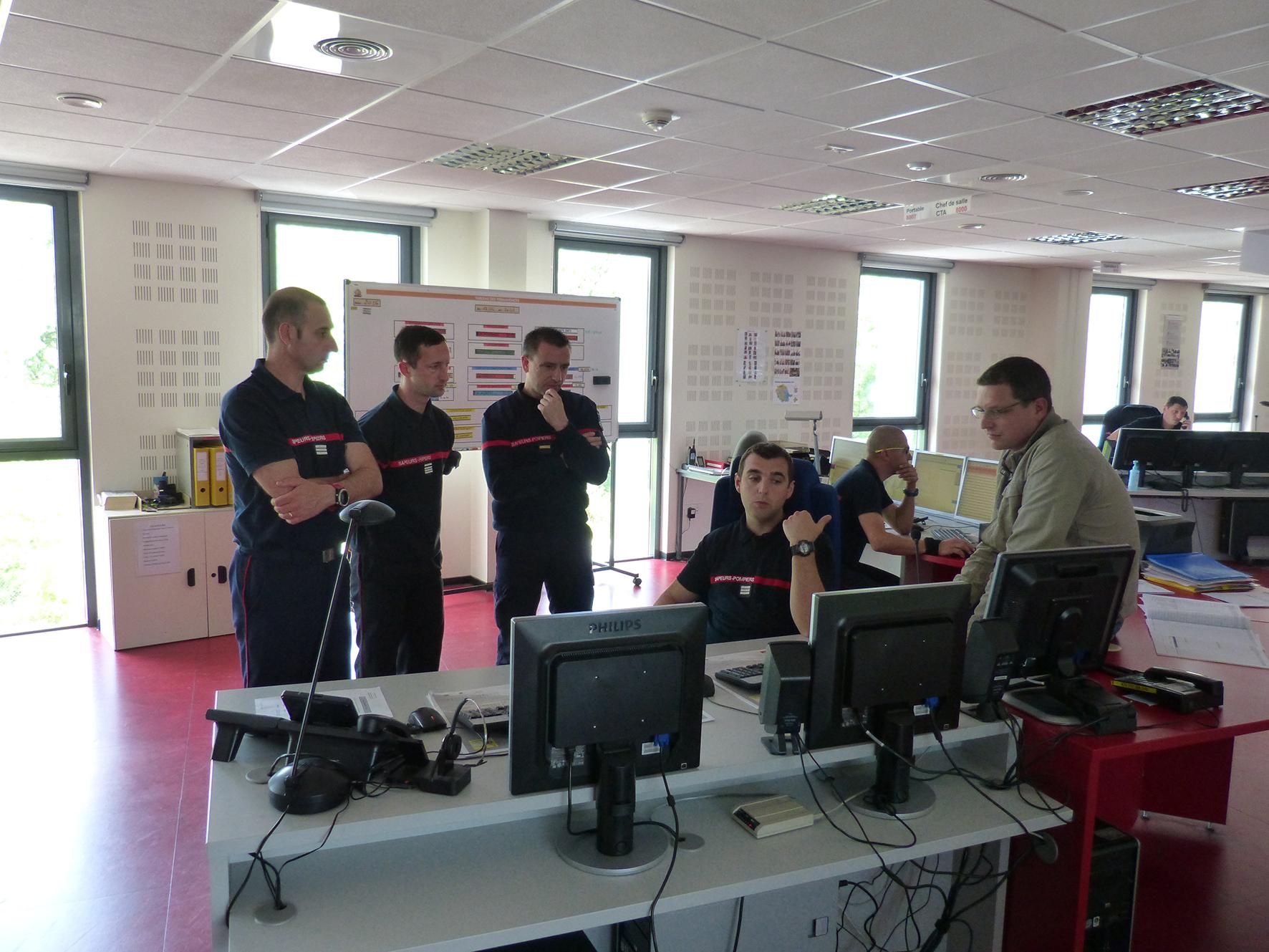 Le SDIS de l'Aude en visite au SDIS du Tarn