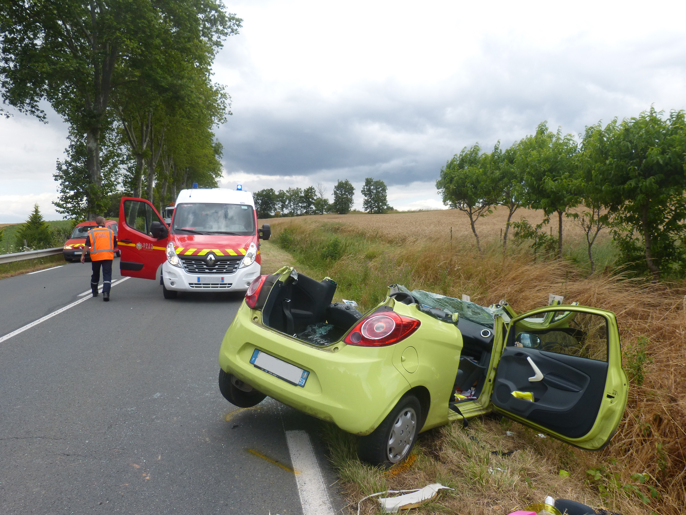 Accident de la circulation sur la commune de Venès
