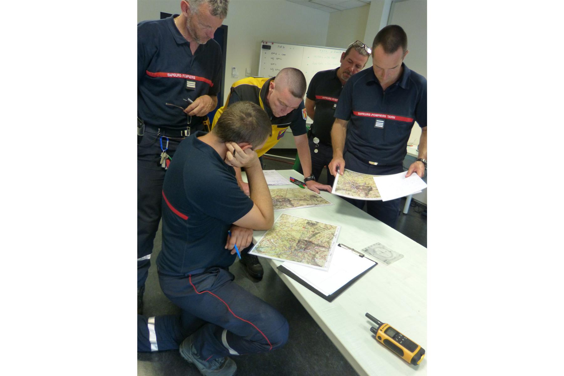 Les sapeurs-pompiers du Tarn se forment aux risques Feux de Forêts grâce à un simulateur