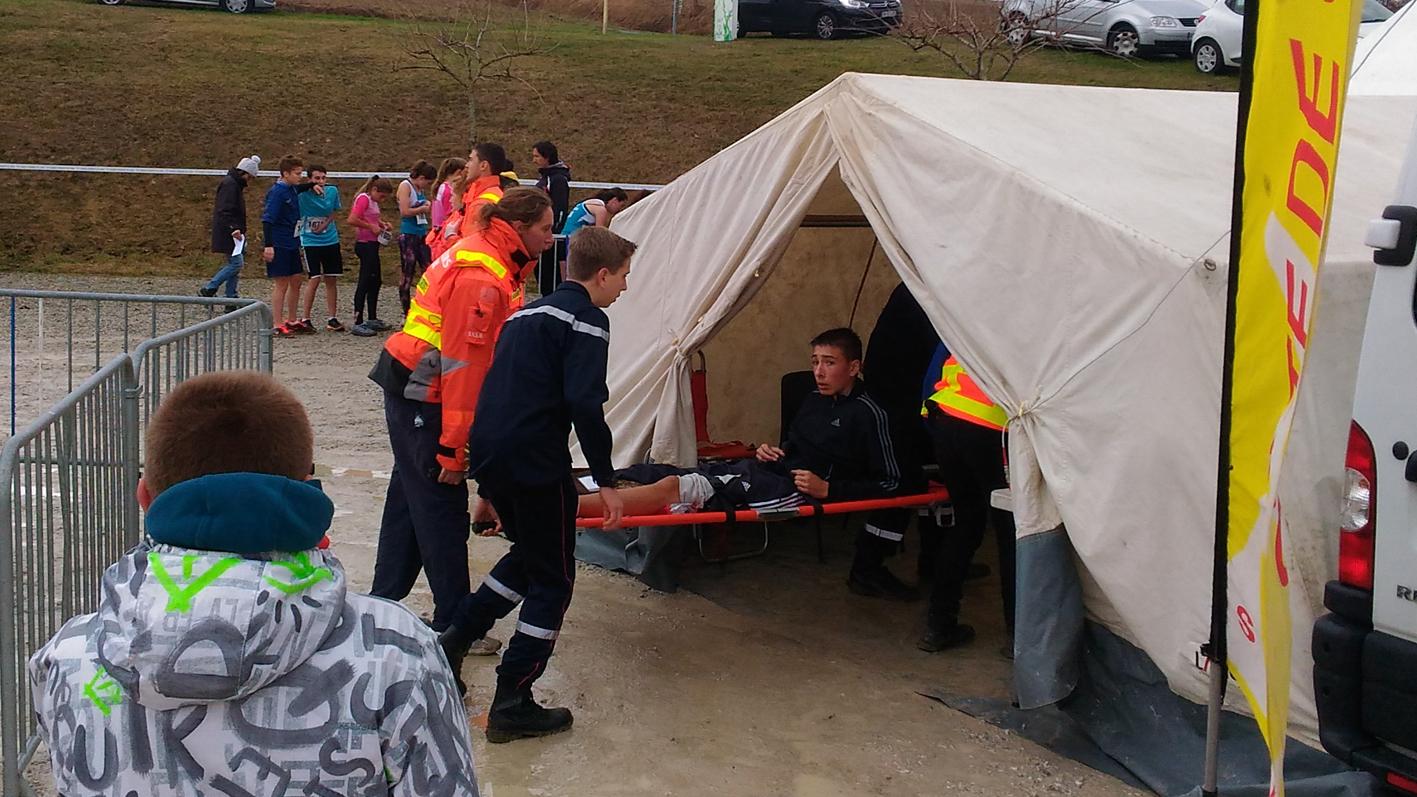 Les JSP présents sur le dispositif de secours du cross de l'UNSS