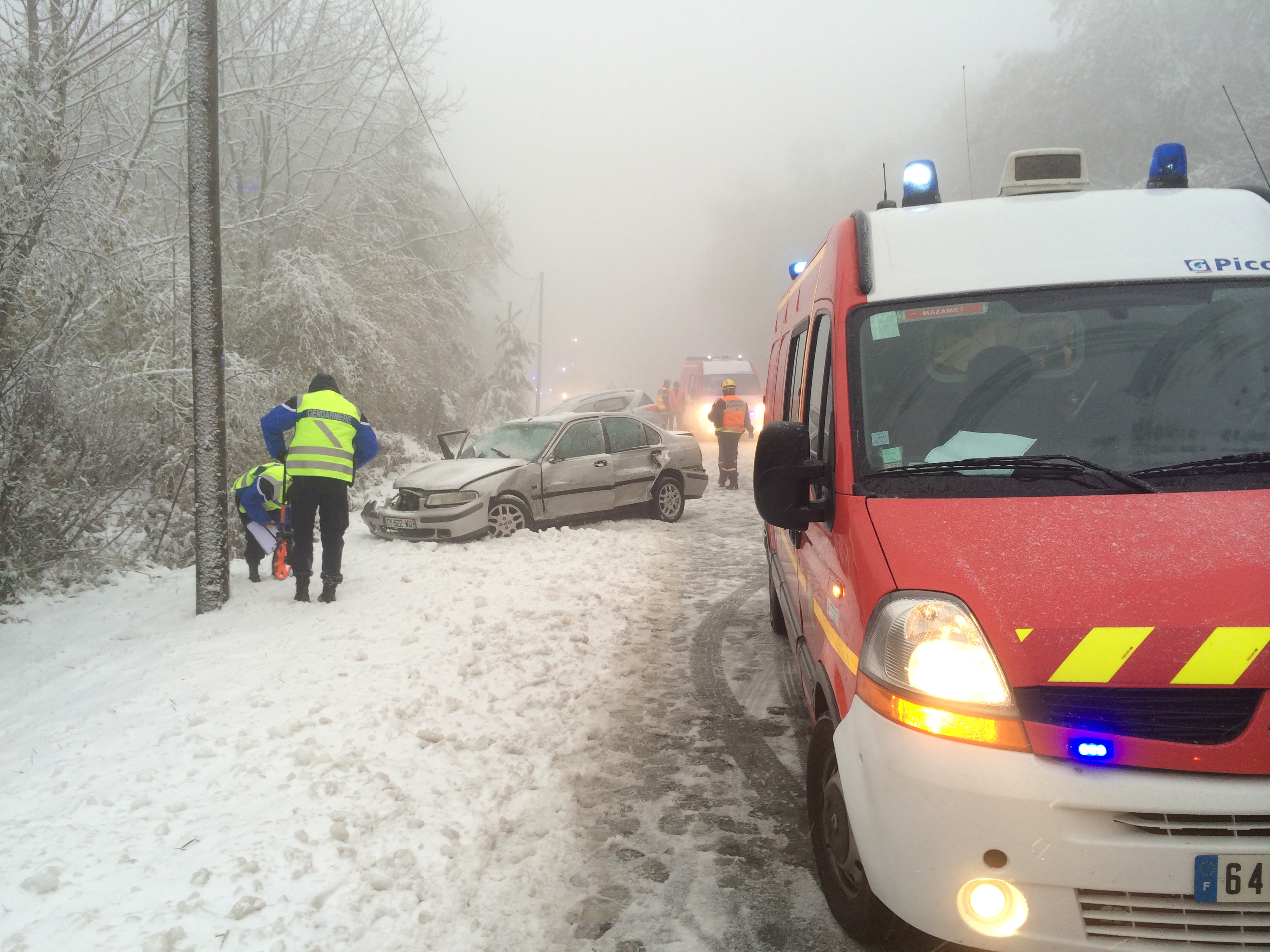Accident de circulation sur la commune de Burlats