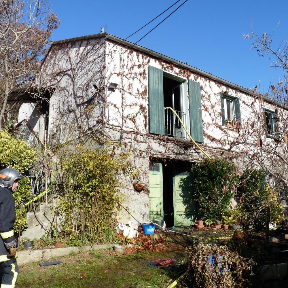 Feu d'habitation à Saint-Lieux-Lafenasse
