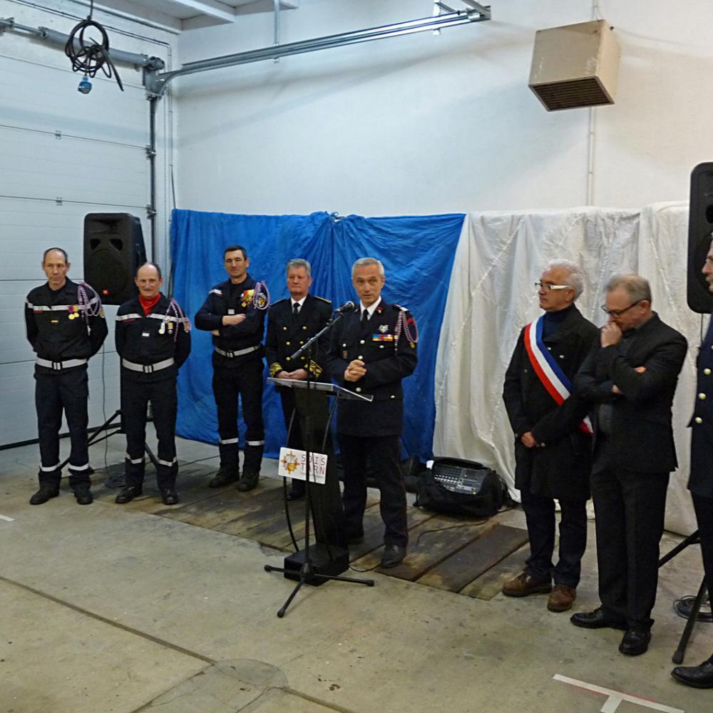 Passation de commandement du centre de secours de Brassac