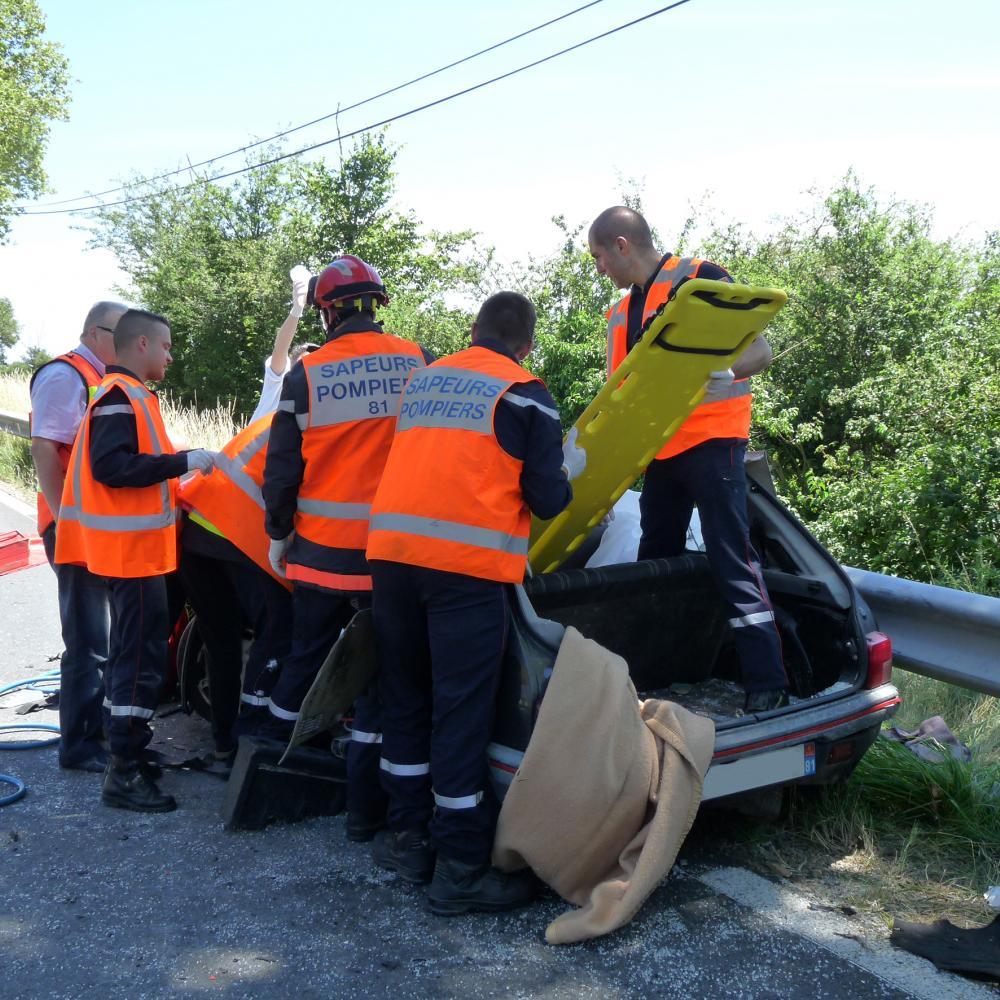 Accident de la circulation sur la commune de Castres