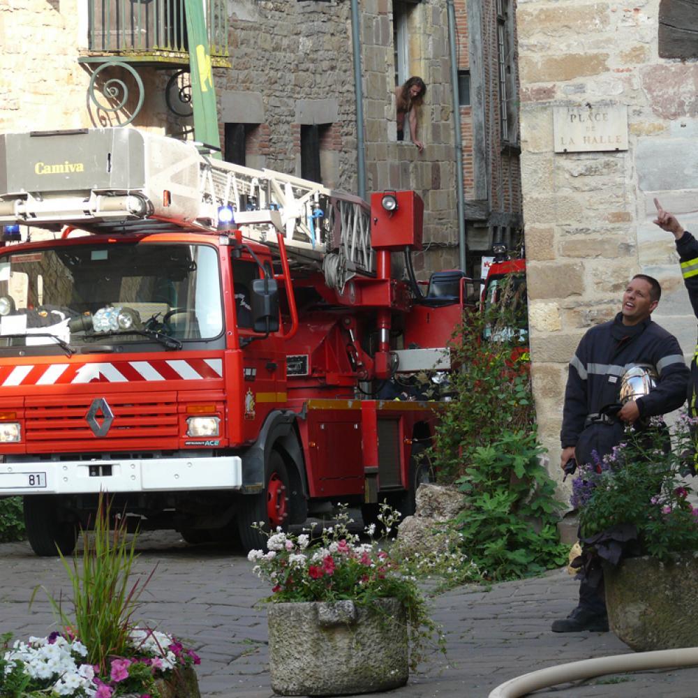 Incendie d'une auberge à Cordes-sur-Ciel