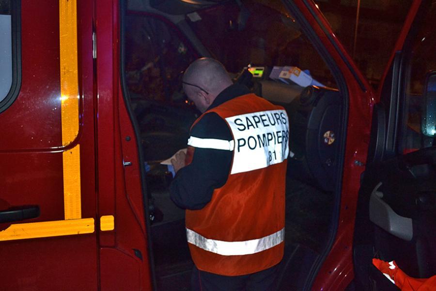Accident sur la voie publique à Albi