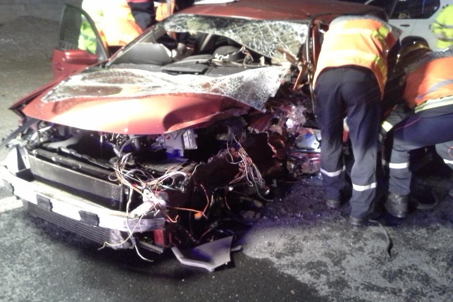 Collision entre une voiture et un platane à Dourgne