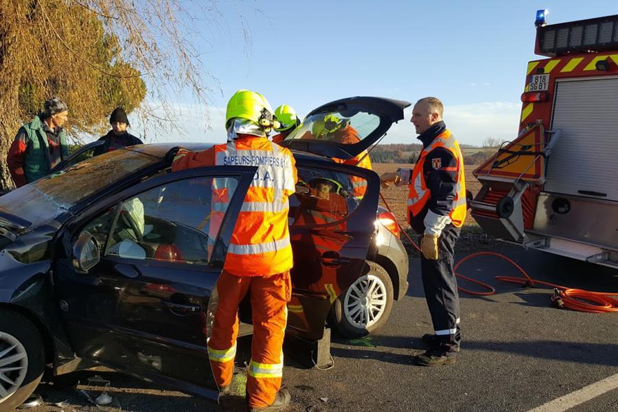Accident de la route commune d'Andouque