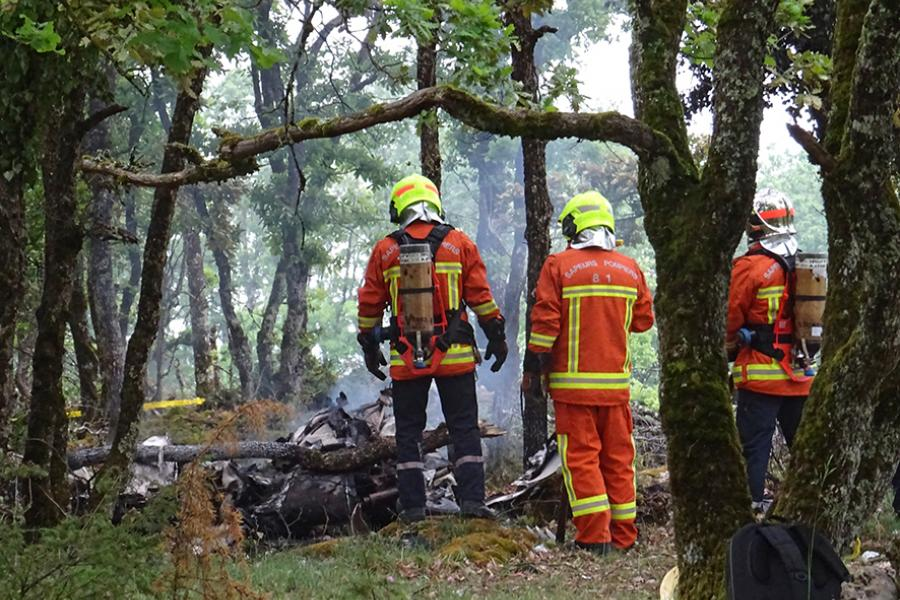 Crash d'un avion biplace sur la commune de Milhars