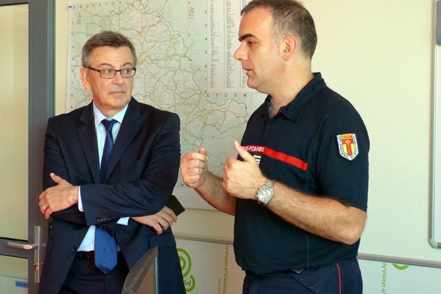 Le sous-préfet de Castres en visite à l'Etat-major