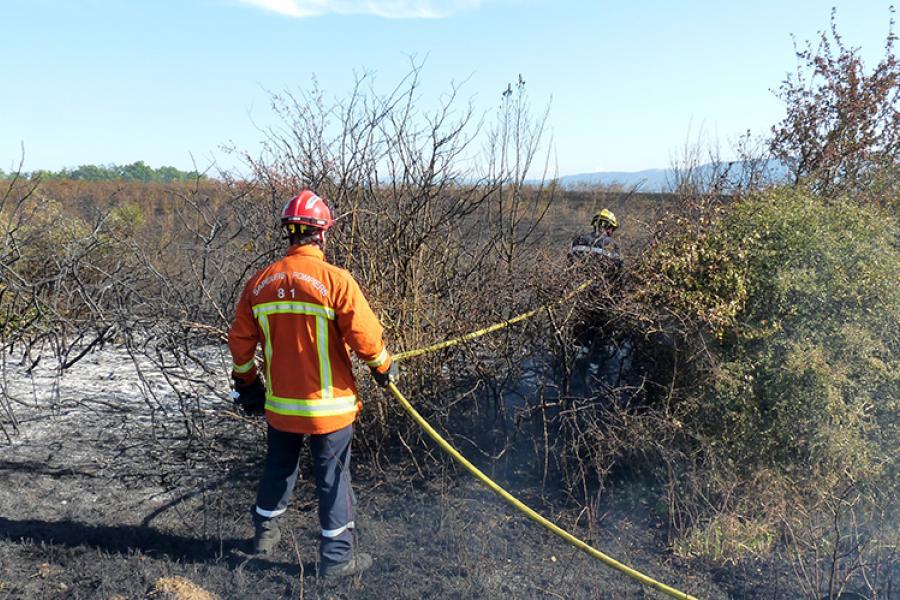 Important feu de broussailles sur la commune de Castres