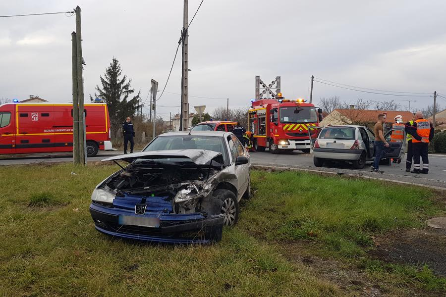 Accident de la circulation sur la commune de Brens