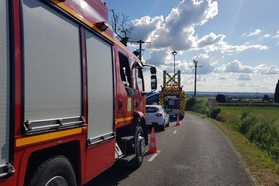 Accident de la circulation à Labastide-de-Lévis