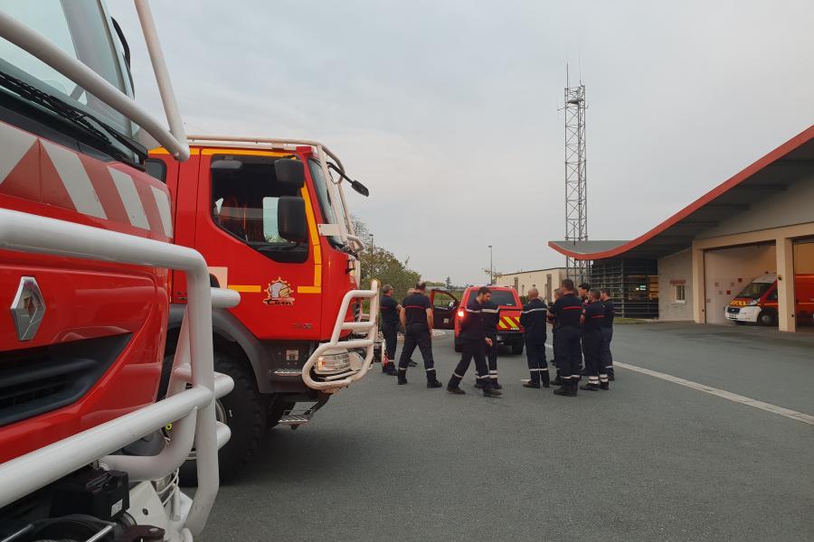 Engagement d'un groupe inondation SDIS 81 dans l'Aude