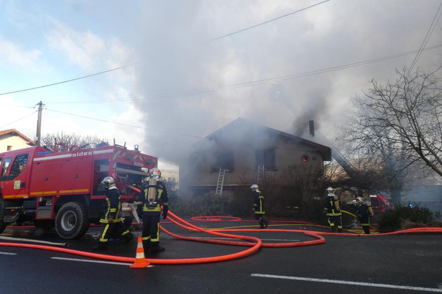 Violent incendie à Cordes-sur-Ciel