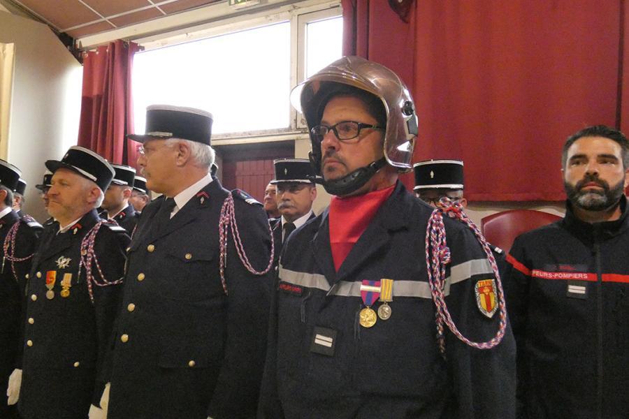 Passation de commandement au centre de secours de Vaour