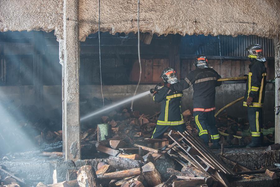 Un local agricole en feu sur la commune de Fontrieu