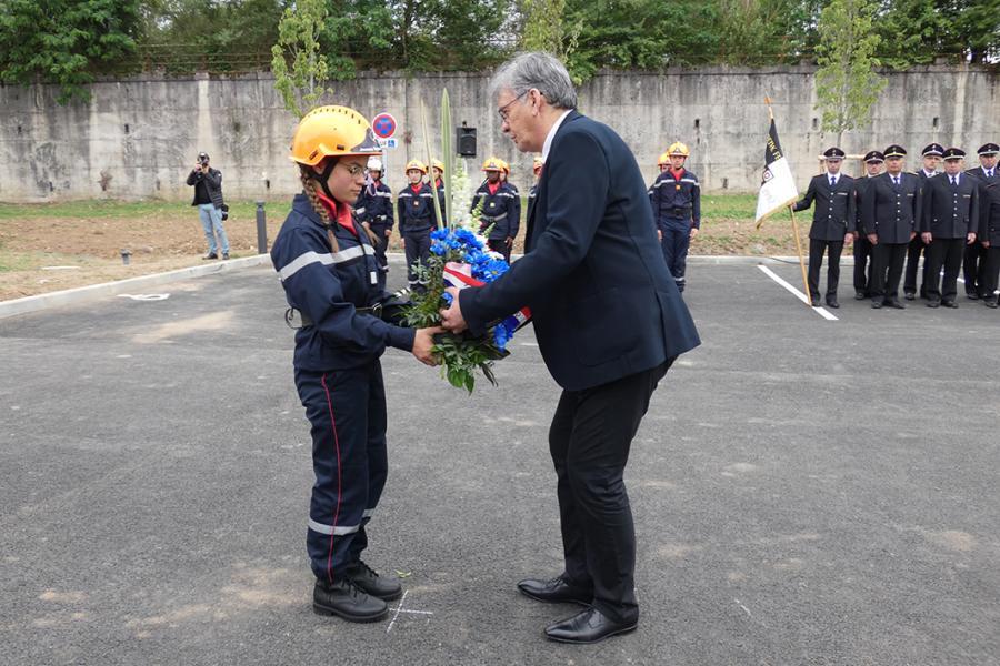 Cérémonie départementale de la Journée nationale des sapeurs-pompiers et inauguration du centre de secours de Carmaux